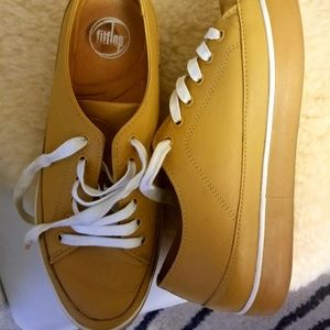 Camel Leather Fashion Sneakers